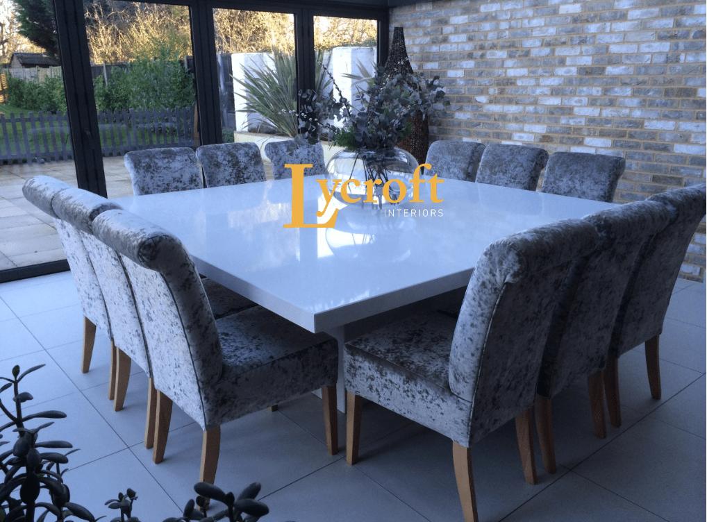 Quartz White 1 5 Square Dining Table Quartz White 2 4 X 110 Rectangle Single Colum Dining Table